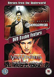 1 of 1 - Constantine / V For Vendeta Double DVD Keanu Reeves Rachel Weisz Original UK New