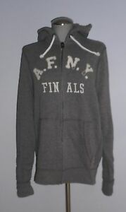NWT-MENS-ABERCROMBIE-amp-FITCH-DARK-GRAY-ZIPPERED-HOODIE-SWEATSHIRT-SIZE-XL-90