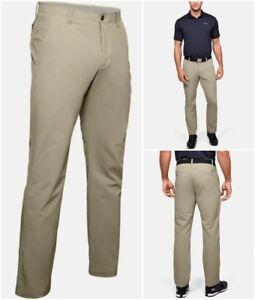 Under Armour Ua Match Play Pantalones Para Hombres 38 X 32 Que Absorbe Stretch Pantalones De Golf De Color Caqui Ebay