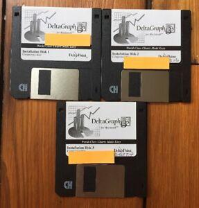 Vintage-1995-DeltaGraph-3-5-Floppy-Disk-Software-Installation-Mac-Macintosh