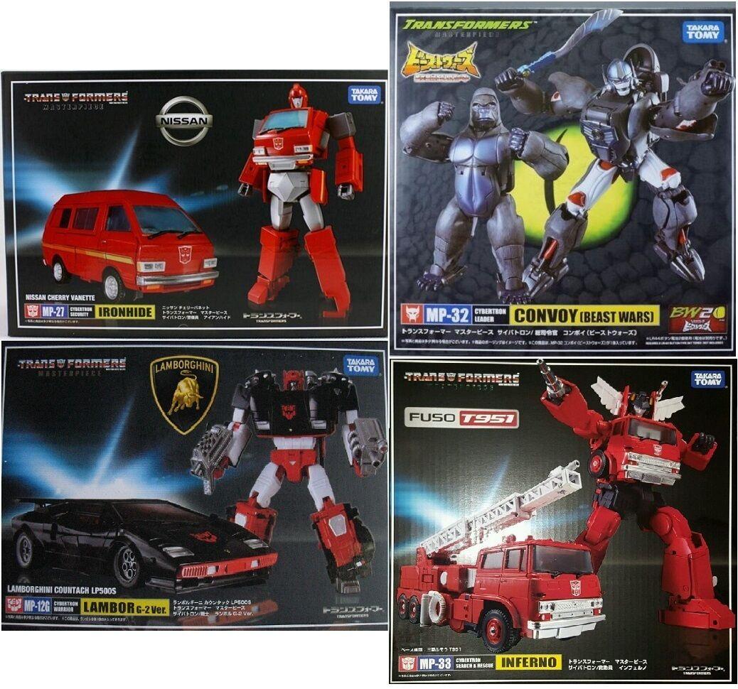Transformers MP-12G Lambor MP-27 Ironhide MP-32 Convoy MP-33 Inferno Takara Tomy