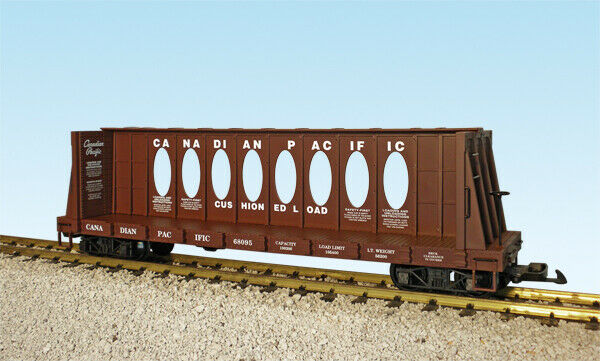 USA Trains G Scale CENTER I-BEAM FLAT CAR R17416B Canadian Pacific (68096) - Box