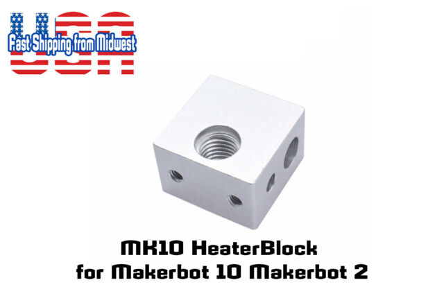 "MK10 M7 Heat Block Hotend 6mm 1//4/"" Heater MakerBot Replicator FlashForge 1//4 6"