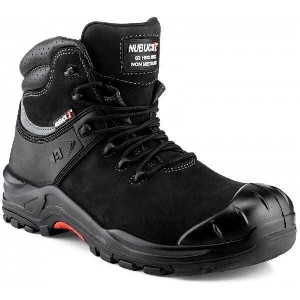 Buckler NKZ102BK Nubuckz Non-metallic Dealer Boots Black (Sizes 6-13)