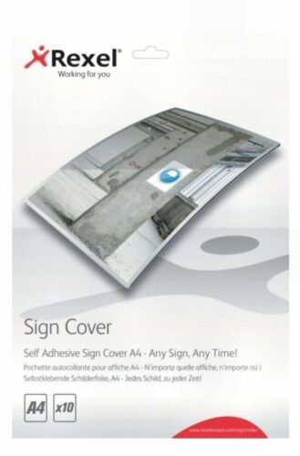 Rexel Signmaker Self Adhesive A4 Sign Cover Pack of 10 Laminating 2104249 Z7RS