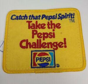 "Vintage Pepsi Patch ""Take The Pepsi Challenge!"" Catch that Pepsi Spirit 3.8""x3"""