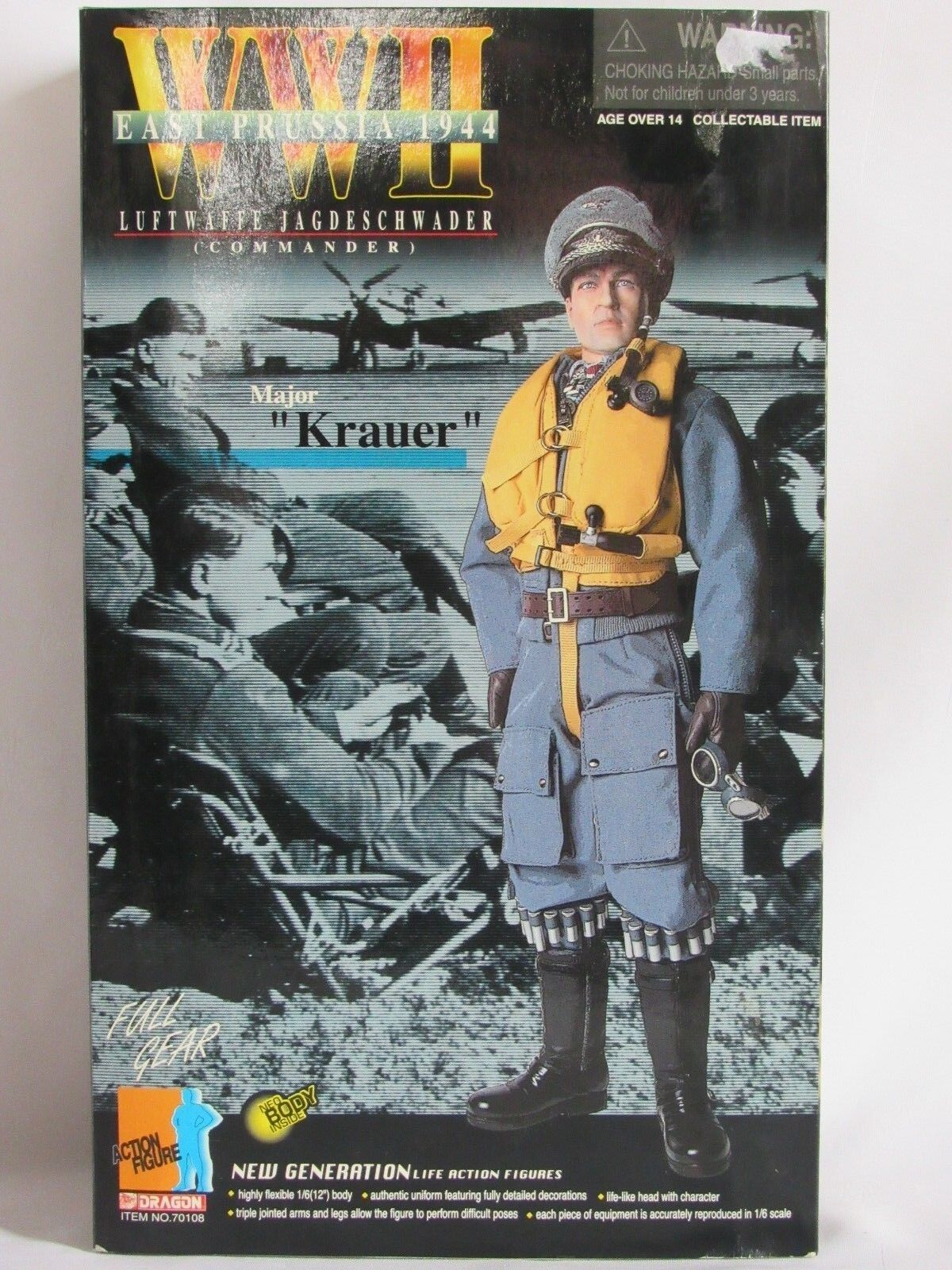 04E2 DRAGON ACTION FIGURE MAJOR KRAUER LUFTWAFFE JAGDESCHWADER COMMANDER WW2