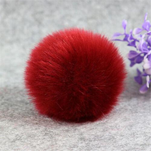 8cm 10cm Pom Pom Balls Faux Fox Fur Fluff Balls for Pom Pom Hat Accessories DIY