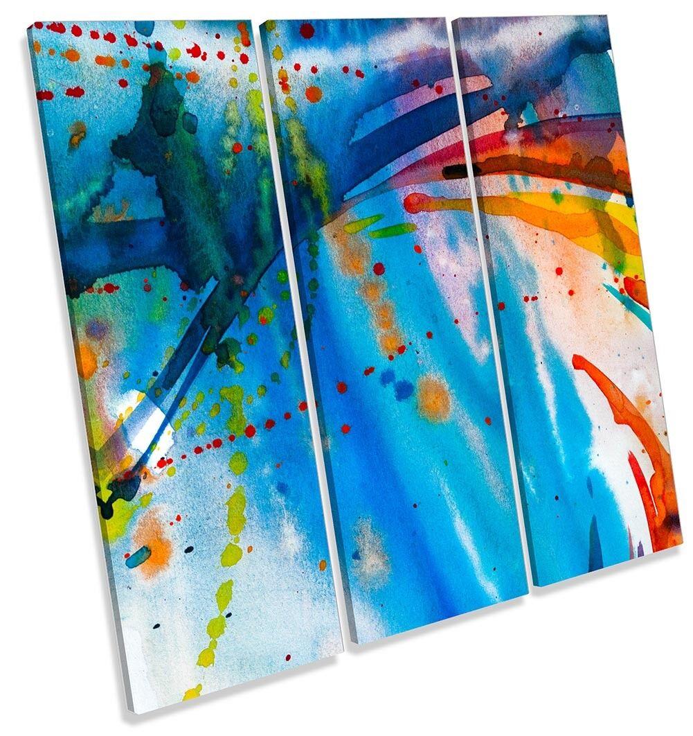 PITTURA Astratta a righe blu incorniciato Treble stampa stampa stampa art. a muro 97b3e3