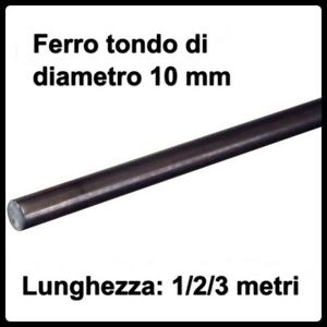 PROFILO BARRA IN FERRO LISCIO PIATTO ACCIAIO GREZZO 25 mm SPESSORE 10 mm