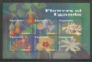 BlÜten/ Uganda Minr 2483/89 ** Kleinbogen Nature & Plants