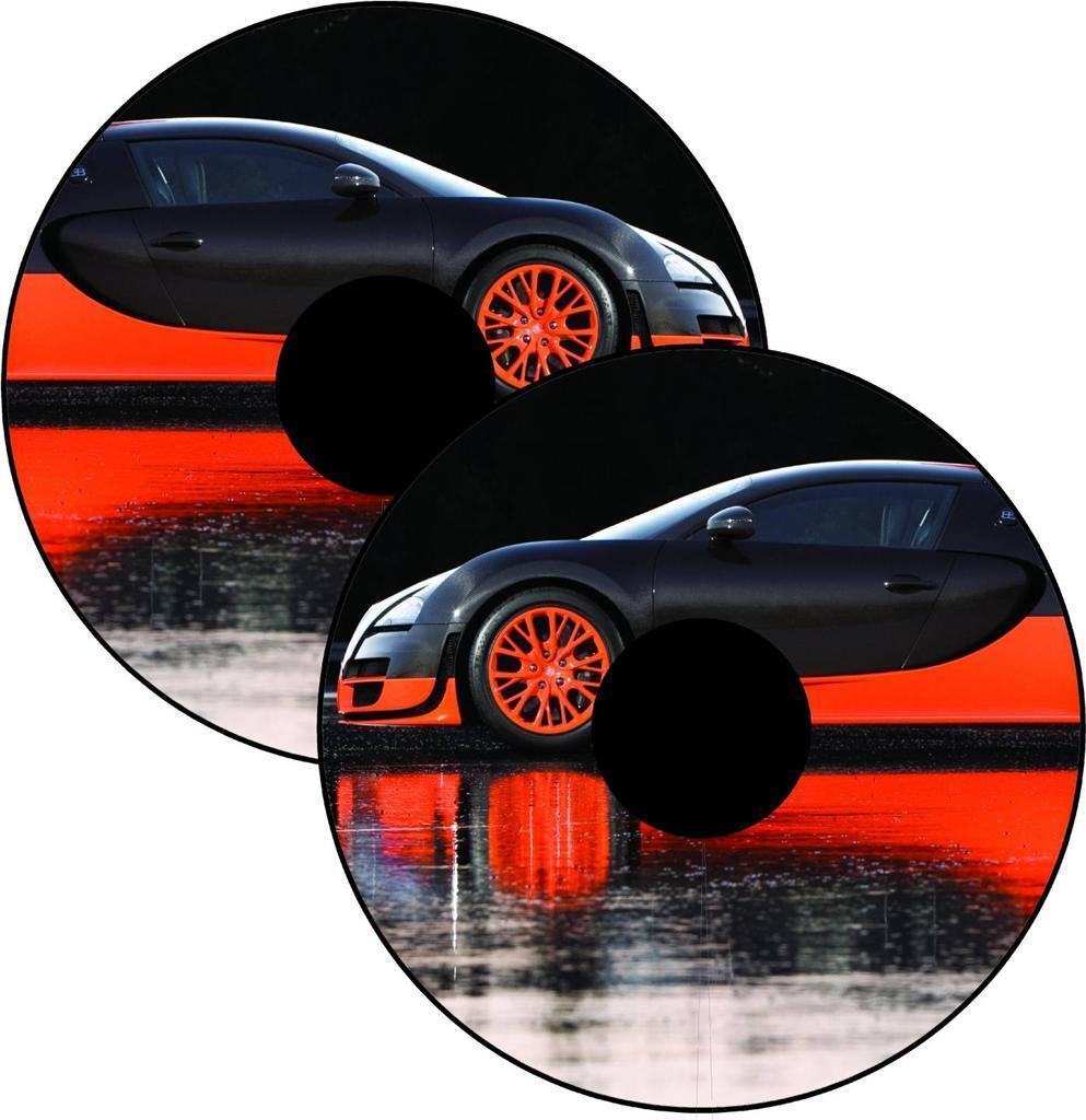s l1600 - Cubrerradios para Silla de Ruedas Skins Bugatti SPORTS Coche Pegatina Personal