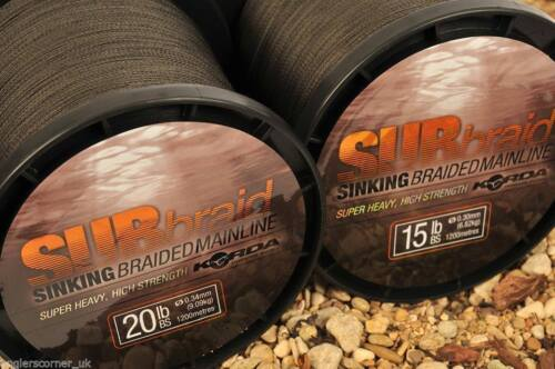 Korda SUBbraid SuperHeavy Braided Mainline Carp Fishing All Breaking Strains