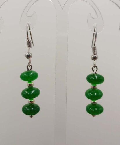 Wholesale 5x8mm Naturel Multicolore jade gems Abacus perles boucle d/'oreille
