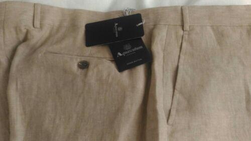 Avec Taille Trousers Linen Neuf tiquettes 42 Aquascutum qE0OXwSx7