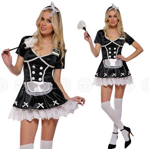 0fcb132ca100 SEXY FRENCH MAID WAITRESS FANCY DRESS OUTFIT SIZE XS 6-8 COSTUME ...