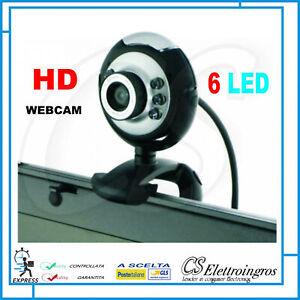 VIDEOCAMERA WEBCAM HD PER PC NOTEBOOK TABLET + MICROFONO PER VIDEOLEZIONI