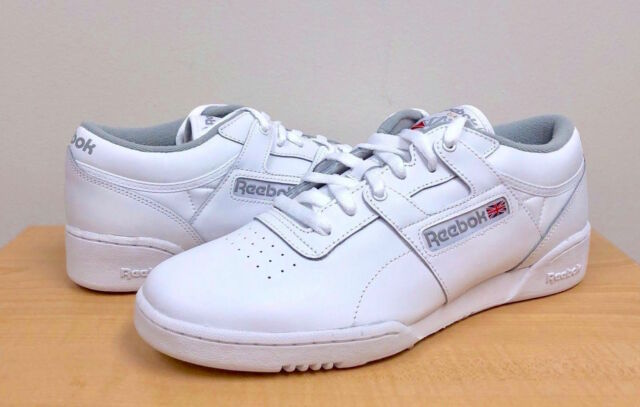 699fdac0f1ba2 Mens Reebok Workout Low White Grey Cn0636 US 9.5 for sale online