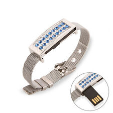 Fashion Crystal Watch Bracelet 8GB USB 2.0 Memory Stick Flash Drive Pen Drive