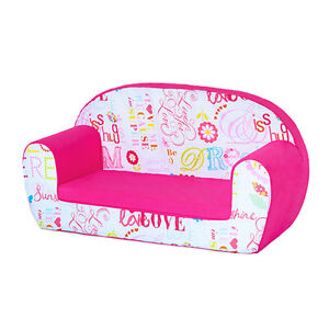 O There Pink Kids Children S Double Foam Sofa Toddlers Seat Rh Ebay Co Uk