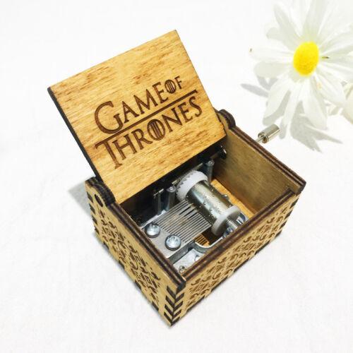 Harry Potter Game Thrones Spieldose Holz Spieluhr Music Box Geschenk  Kinder Neu