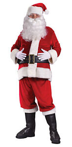 abc1369612345 Santa Suit Rich Velvet Adult Men s Costume Red Jacket Christmas ...