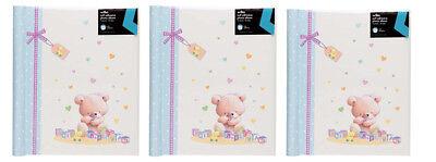 3 X Album Fotografico Bambino Baby Autoadesivo Foto Album 10 Fogli/20 Lati-
