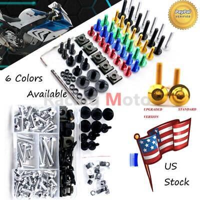 For Suzuki GSX-R 600 750 K8 2008 2009 2010 Complete Fairing Bolt Kit Screws M5 6