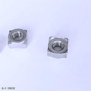 10 Vierkant-Schweissmuttern Edelstahl VA DIN 928 M5 M6 M8  Schweißmutter