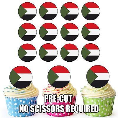 Tasse Kuchentopper Dekorationen Party Geburtstag Möbel & Wohnen 24 Kreis Sudan Flaggen Backzubehör & Kuchendekoration