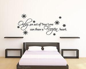 Image Is Loading Frozen Disney Love Quote Wall Art Vinyl Transfer