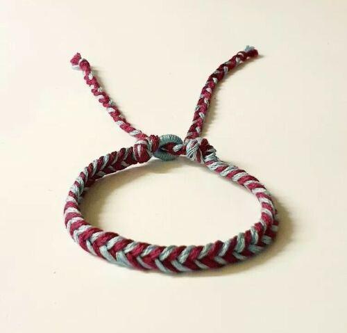 New ASTON VILLA// WEST HAM// BURNLEY Friendship Football Bracelet Handmade Vegan