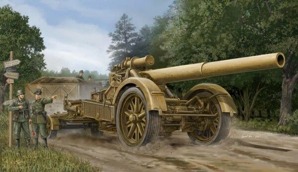 German 21 Cm Morser 18 Heavy Artillery 1 35 Plastic Model Kit TRUMPETER