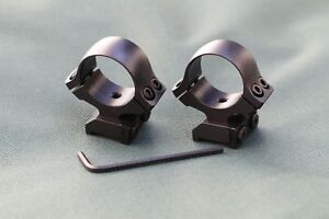 TIKKA-T3-rifle-scope-mounts-1-inch-rings-and-bases-STEEL-MATTE-finish
