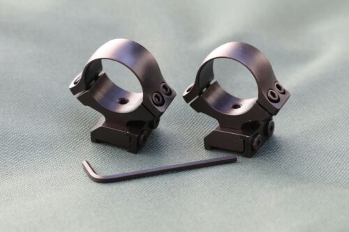TIKKA T3 rifle scope mounts, 30mm rings and bases, STEEL MATTE finish.
