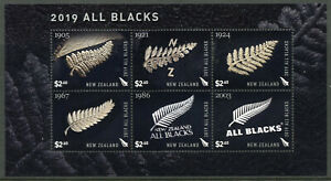 New-Zealand-NZ-Stamps-2019-MNH-All-Blacks-Rugby-Sports-6v-M-S