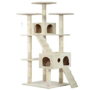 73-034-Cat-Tree-Scratcher-Play-House-Condo-Furniture-Bed-Post-Pet-House
