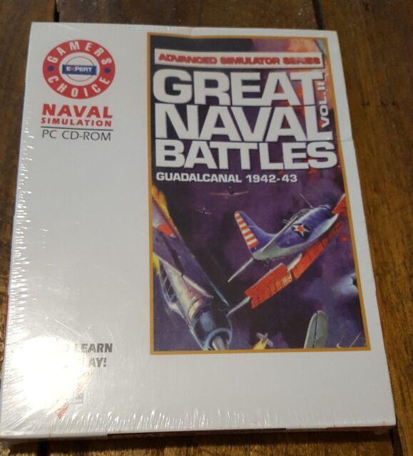 Great Naval Battles Vol II Guadalcanal 1942-43 BOXED CD Simulation Ship SEALED