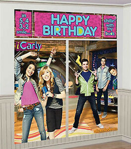 Icarly Scene Setter Happy Birthday Party Wall Decoration Kit Over 6