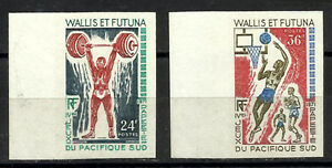 FRANCE-WALLIS-and-FUTUNA-Yv-178-9-imperforate-MNH-Sports