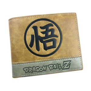 Dragon Ball Z Anime Son Goku Saiyan Kanji Wallet Brown Cards Notes