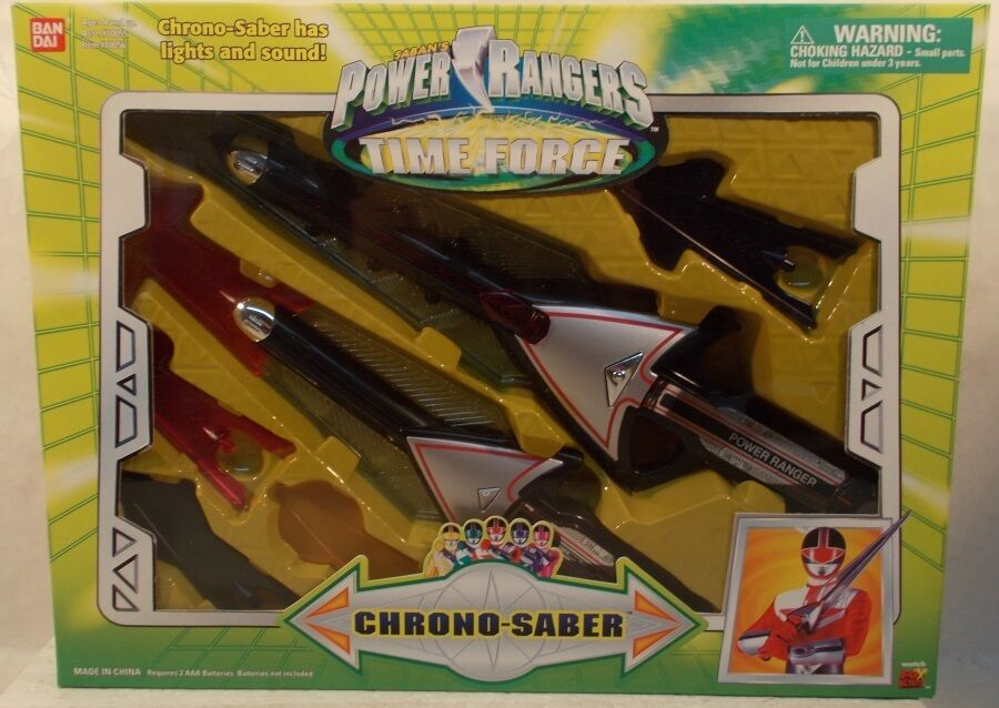Power Rangers Time Force-chrono-saber Juego De Rol De Luces De Color Y Sonido (misb)
