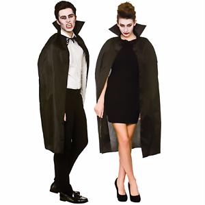 Adulto Unisex Negro Halloween Capa Vampiro Accesorio para Disfraz