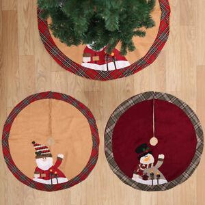 Fj-Ne-Eg-Babbo-Natale-Pupazzo-di-Neve-Albero-Gonna-Stand-Ornamento-Festa-D