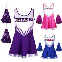 CHEERLEADER FANCY DRESS OUTFIT HIGH SCHOOL MUSICAL UNIFORM COSTUME withoutUK67