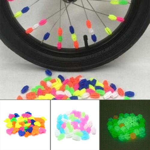 Bicycle Wheel Spoke Colorful Plastic Bead Multi Decoration Bike Accessories