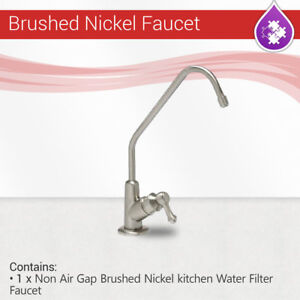 Details about Reverse Osmosis Non Air Gap Brushed Nickel Finished kitchen  Water Filter Faucet