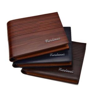 Fashion-Men-039-s-deux-volets-en-cuir-portefeuille-ID-carte-de-credit-Titulaire-Portefeuille-Sac-a