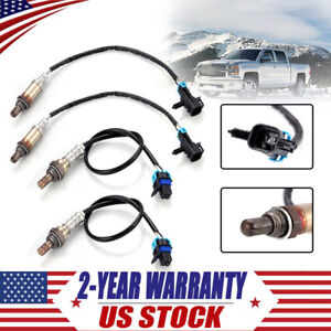 4X-O2-Oxygen-Sensor-Up-amp-Downstream-4-wire-for-2007-Chevrolet-Silverado-1500-Tahoe