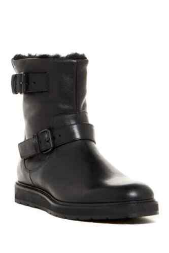 Vince Men Leather & Shearling Buckle Boots Black S